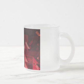 Futuristic Abstract as a Robotic Concept Art Frosted Glass Coffee Mug
