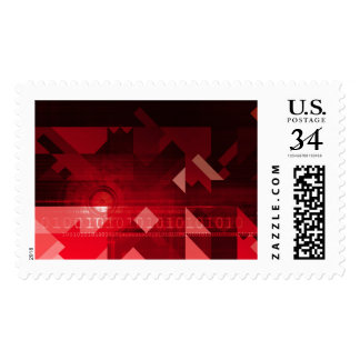 Futuristic Abstract as a Robotic Concept Art Postage