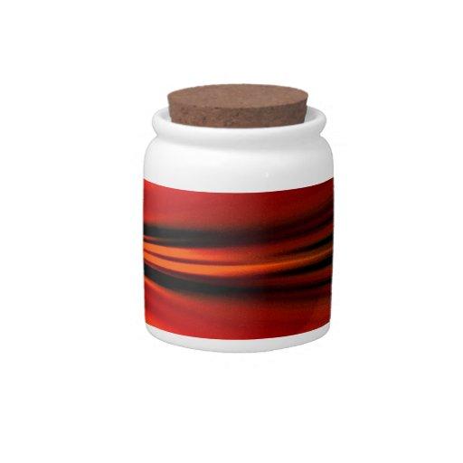 Futuristic abstract design candy jar