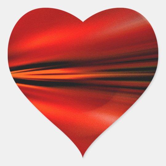Futuristic abstract design heart sticker