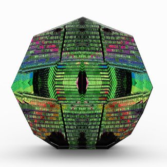Futuristic Abstract Design Paperweight Octagon 1 Award