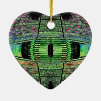 Futuristic Abstract Heart Ceramic Ornament 1