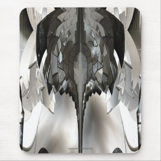 Futuristic Abstract Metal Insect Bug Art Mousepad