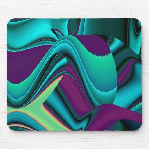 futuristic, Abstract Rainbow Mouse Pad