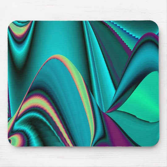 futuristic, Abstract Rainbow Mouse Pad