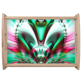 Futuristic Abstract Serving Tray