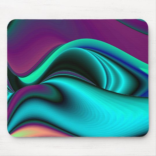 futuristic, abstractly rainbow mouse pad
