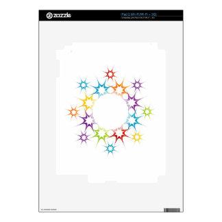 Futuristic artwork decal for iPad 2