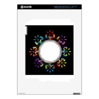 Futuristic artwork decal for iPad 3
