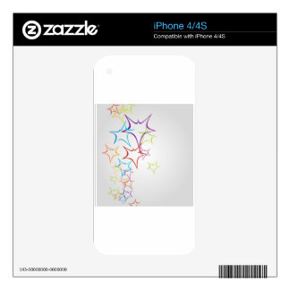 Futuristic artwork decals for the iPhone 4S