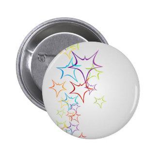 Futuristic artwork pinback button