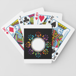 Futuristic artwork bicycle playing cards