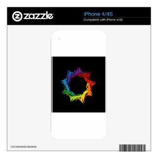 Futuristic artwork skins for iPhone 4