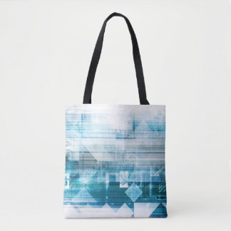 Futuristic Background with Technology Abstract Tote Bag