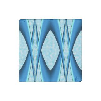 Futuristic Blue Arch Stone Magnet