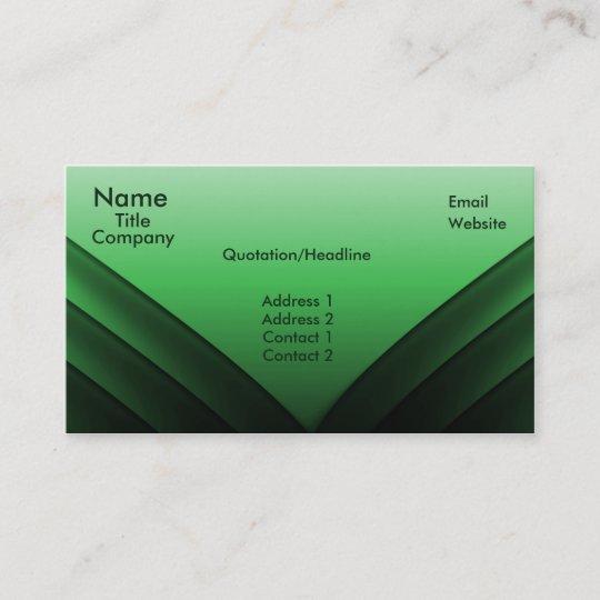 Futuristic Business Card Green Business Card Zazzle