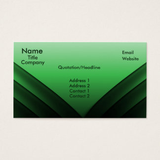 Futuristic Business Card Green