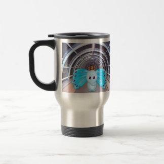 Futuristic Butterfly Elephant Scene 15 Oz Stainless Steel Travel Mug