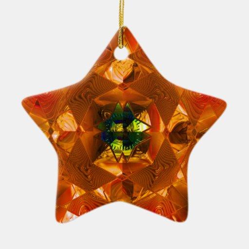 Futuristic Chrystal X8 1-B Christmas Star Double-Sided Star Ceramic Christmas Ornament