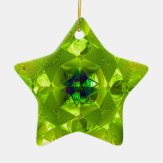 Futuristic Chrystal X8 1-F Christmas Star Ceramic Ornament