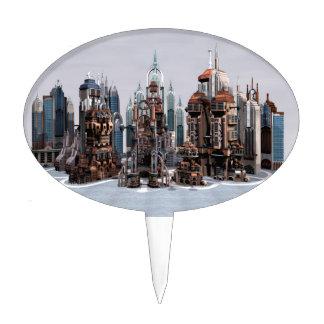 Futuristic City Cake Topper