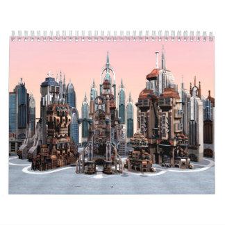 Futuristic City Calendar