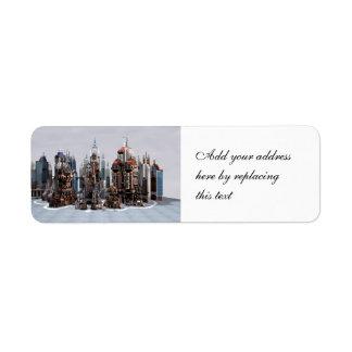 Futuristic City Label
