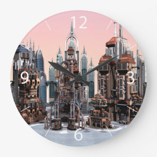 Futuristic City Large Clock