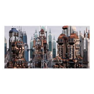 Futuristic City Photo Card