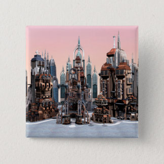 Futuristic City Pinback Button