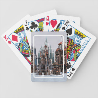 Futuristic City Bicycle Playing Cards