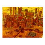 Futuristic city scape post cards