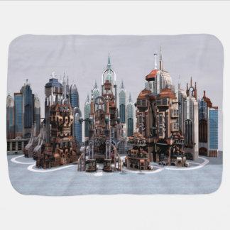 Futuristic City Swaddle Blanket