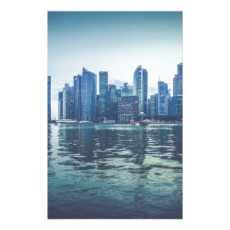 FUTURISTIC CITYSCAPE CITY HIGH-RISES WALLPAPERS BA STATIONERY