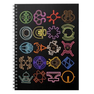 Futuristic Cosmic Runes Note Book