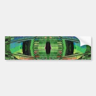 Futuristic Design Designer Bumper Sticker 1