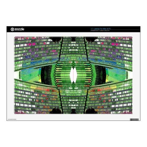 "Futuristic Design Designer Laptop Mac PC Skin 2 Decal For 17"" Laptop"