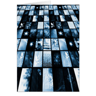 Futuristic Digital Age TV and Channels Background Card