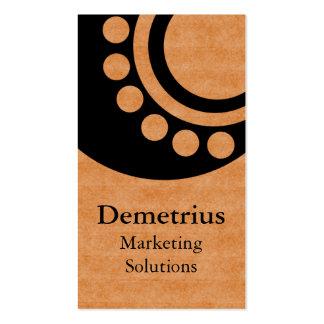 Futuristic Dimensions Business Card, Copper Business Card