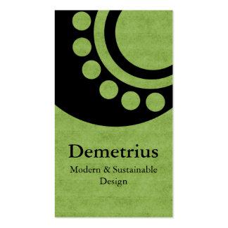 Futuristic Dimensions Business Card, Green Business Card