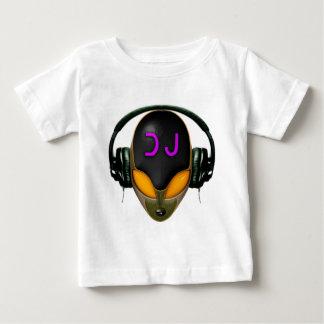 Futuristic DJ with Headphones - Orange Style Baby T-Shirt