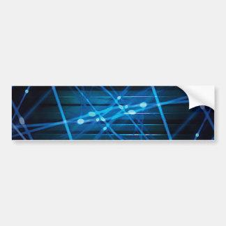 Futuristic Dynamic Abstract Design Car Bumper Sticker