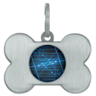 Futuristic Dynamic Abstract Design Pet Name Tag