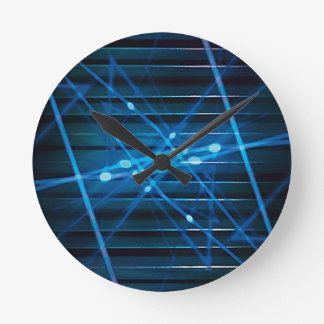 Futuristic Dynamic Abstract Design Round Clock