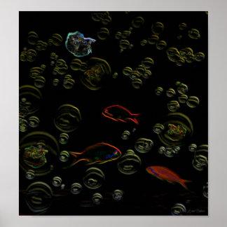 Futuristic Fish Digital Art by Missi Lynn Boness Poster