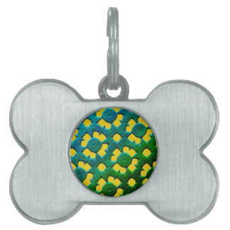 FUTURISTIC FLOWERS PET NAME TAG