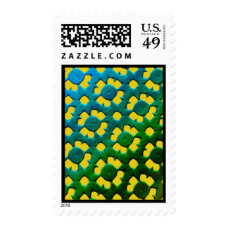FUTURISTIC FLOWERS POSTAGE STAMPS