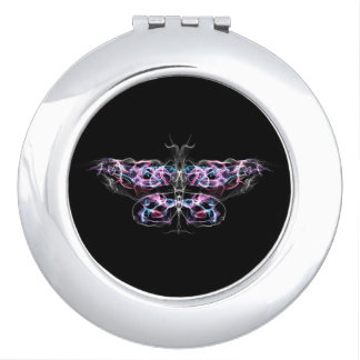 Futuristic Fractal Butterfly Mirror For Makeup