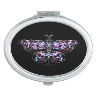 Futuristic Fractal Butterfly Vanity Mirror