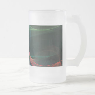 Futuristic Frosted Glass Beer Mug
